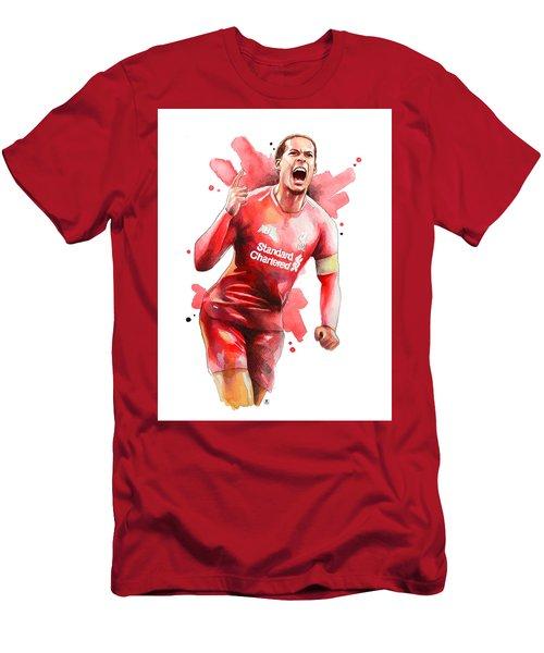 Virgil Van Dijk, Liverpool Men's T-Shirt (Athletic Fit)