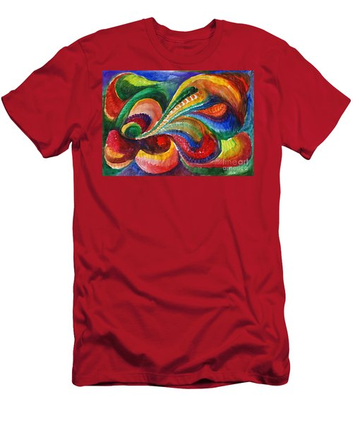 Vivid Abstract Watercolor Men's T-Shirt (Athletic Fit)