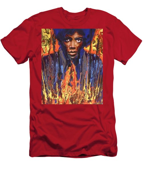 Men's T-Shirt (Athletic Fit) featuring the painting Voodoo by Blake Emory