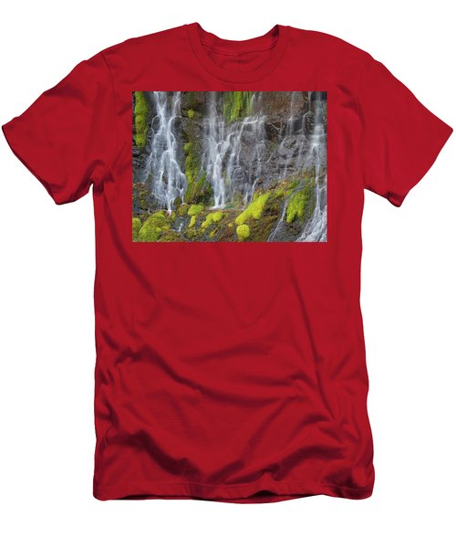 Waterfall Detail Men's T-Shirt (Athletic Fit)