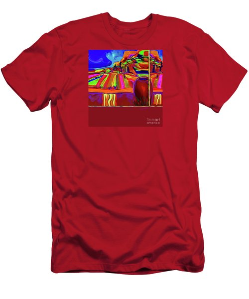 Georgia- Out Her Window Men's T-Shirt (Athletic Fit)