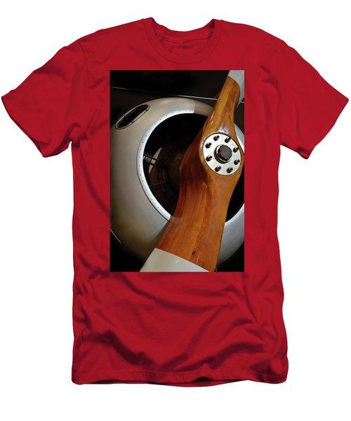 Wooden Propeller Men's T-Shirt (Athletic Fit)