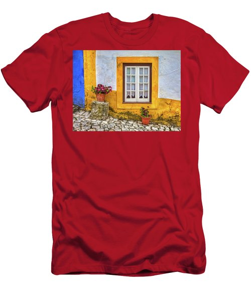 Yellow Window Of Obidos Men's T-Shirt (Athletic Fit)