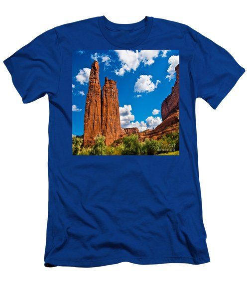 Canyon De Chelly Spider Rock Men's T-Shirt (Slim Fit) by Bob and Nadine Johnston