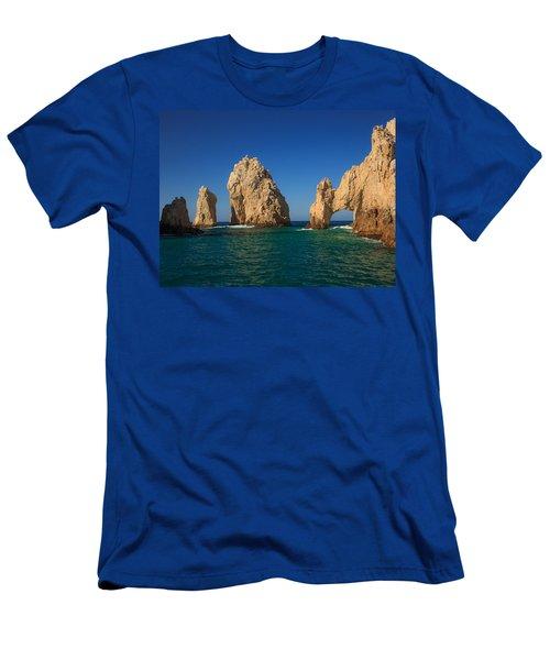 The Sea Arch El Arco De Cabo San Lucas Men's T-Shirt (Athletic Fit)