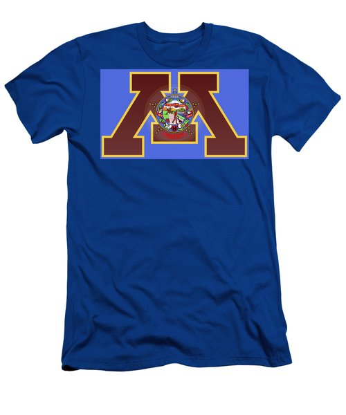U Of M Minnesota State Flag Men's T-Shirt (Athletic Fit)