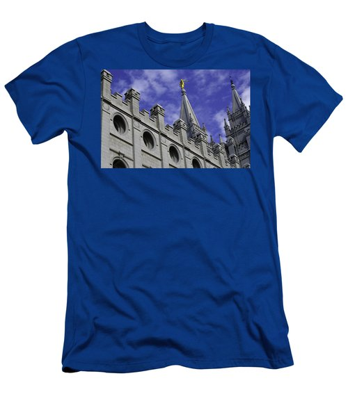 Angel On The Temple Men's T-Shirt (Athletic Fit)