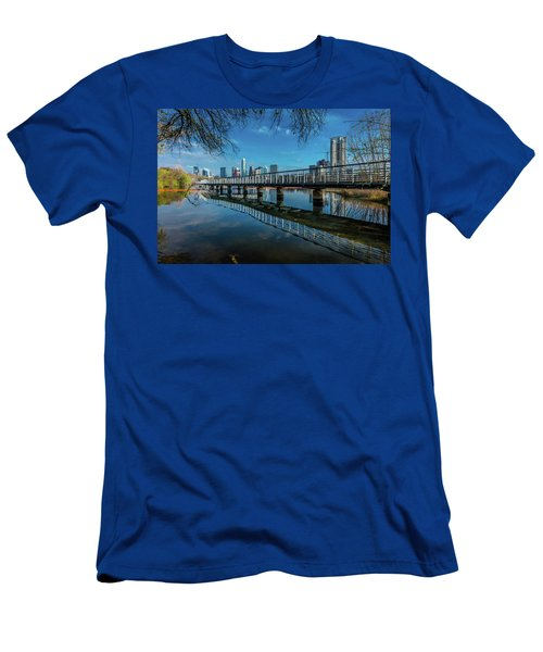 Austin Skyline And Lady Bird Lake - Men's T-Shirt (Athletic Fit)