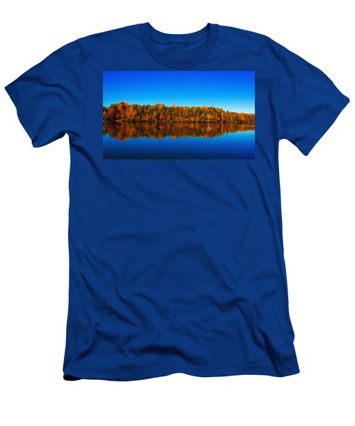 Men's T-Shirt (Slim Fit) featuring the photograph Autumn Reflections by Andy Lawless