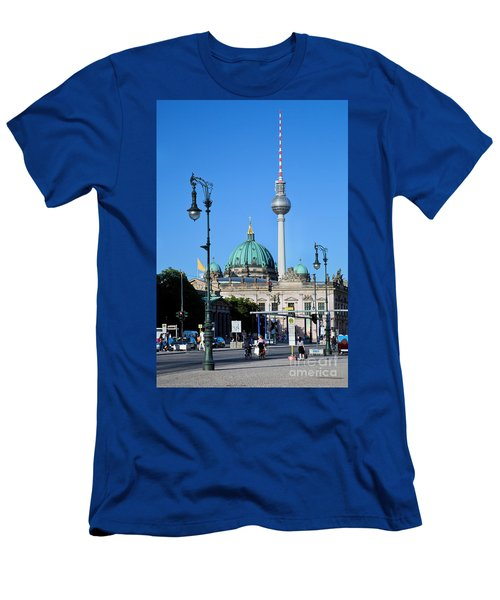 Berlin Cathedral And Tv Tower Men's T-Shirt (Athletic Fit)