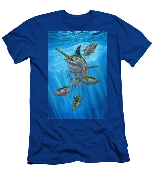 Black Marlin And Albacore Men's T-Shirt (Athletic Fit)