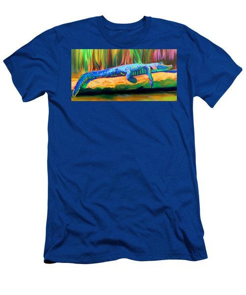Blue Alligator Men's T-Shirt (Athletic Fit)