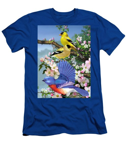 Bluebird And Goldfinch Men's T-Shirt (Athletic Fit)