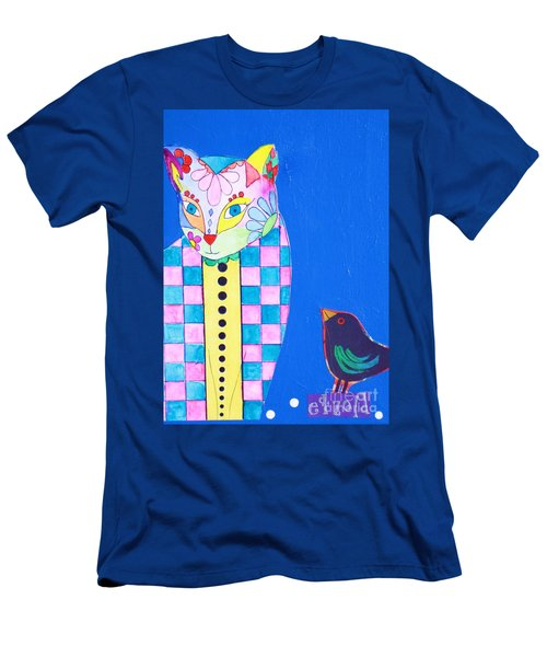 Checkered Cat Men's T-Shirt (Athletic Fit)