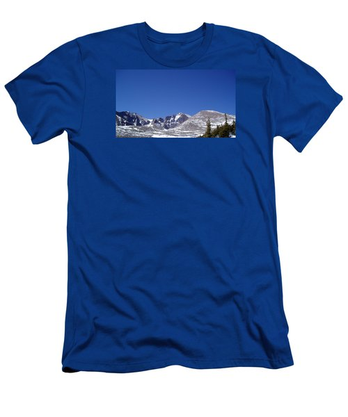 Longs Peak And Blue Sky Men's T-Shirt (Athletic Fit)