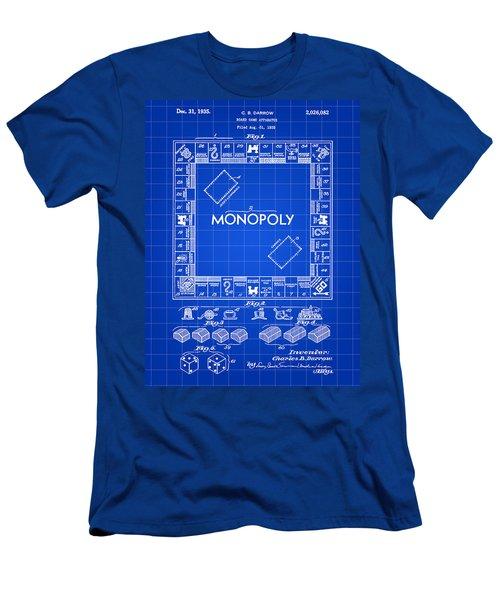 Monopoly Patent 1935 - Blue Men's T-Shirt (Slim Fit) by Stephen Younts