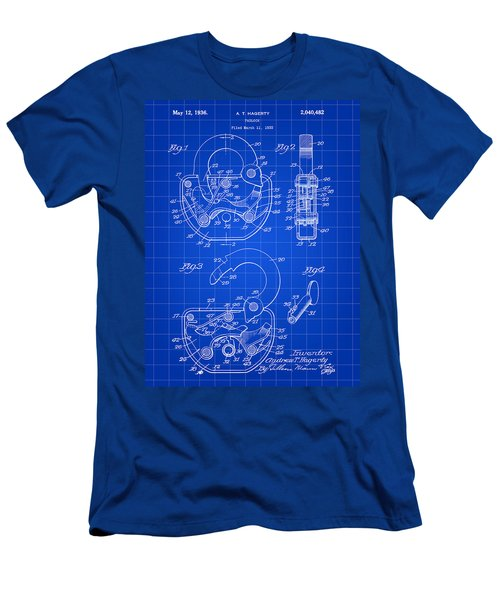 Padlock Patent 1935 - Blue Men's T-Shirt (Athletic Fit)