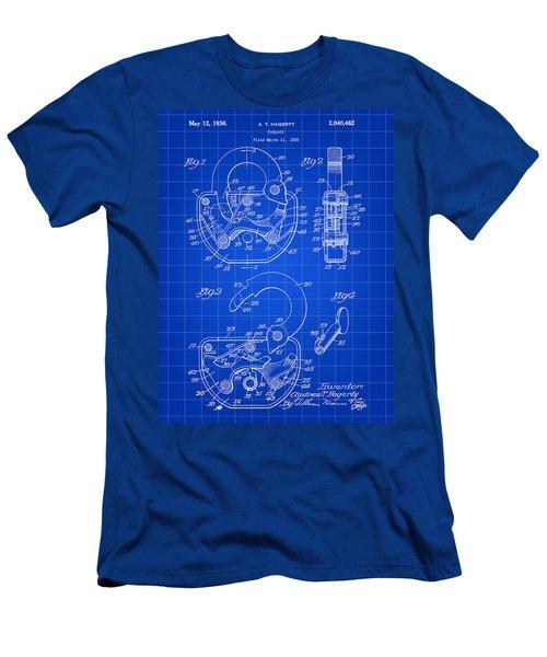 Padlock Patent 1935 - Blue Men's T-Shirt (Slim Fit) by Stephen Younts
