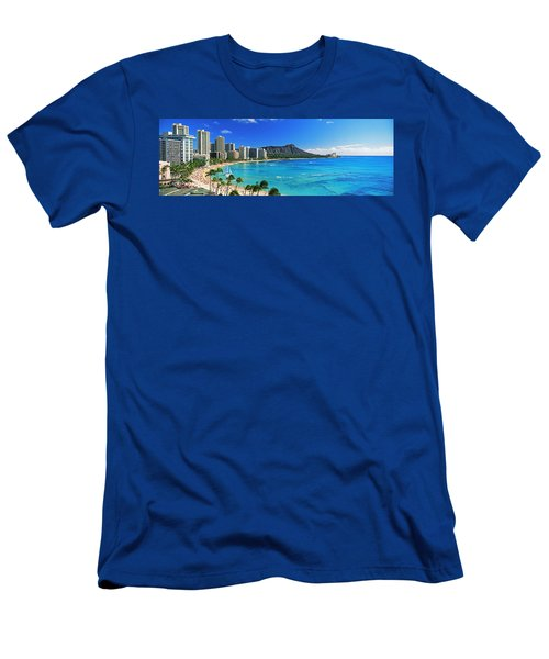 Palm Trees On The Beach, Diamond Head Men's T-Shirt (Athletic Fit)