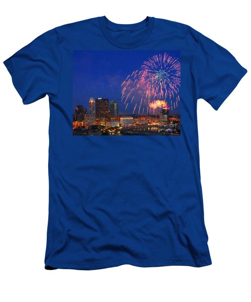 Red White And Boom Photo Men's T-Shirt (Athletic Fit)