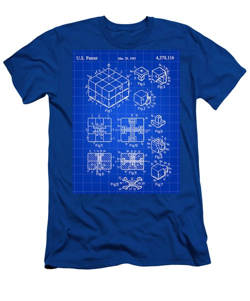 Rubik's Cube Patent 1983 - Blue Men's T-Shirt (Slim Fit) by Stephen Younts