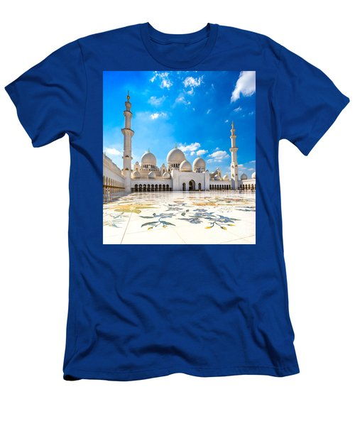 Sheikh Zayed Mosque - Abu Dhabi - Uae Men's T-Shirt (Slim Fit) by Luciano Mortula