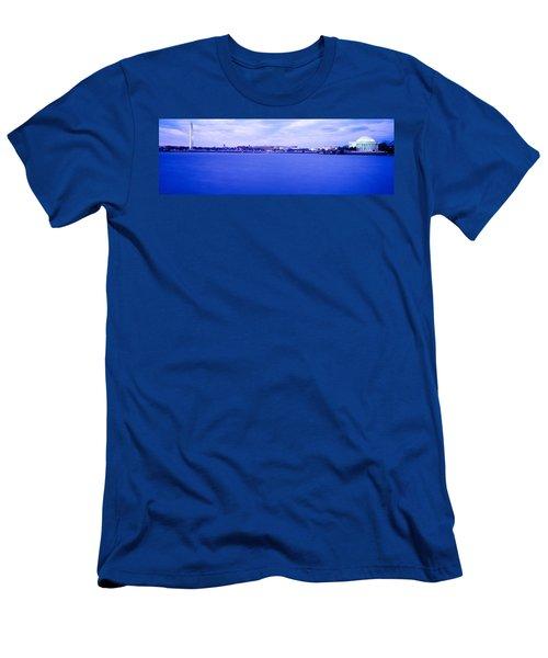 Tidal Basin Washington Dc Men's T-Shirt (Slim Fit) by Panoramic Images