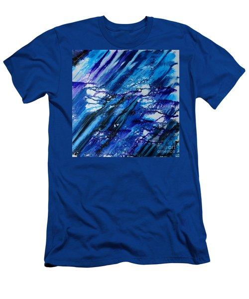 Blue Wind Men's T-Shirt (Athletic Fit)