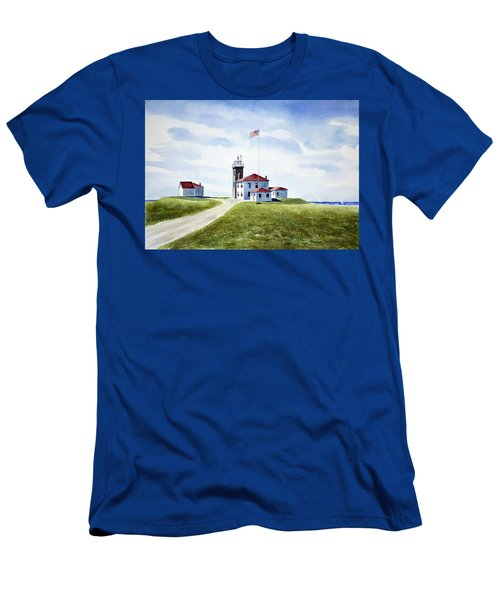 Watch Hill Ri Lighthouse Men's T-Shirt (Athletic Fit)