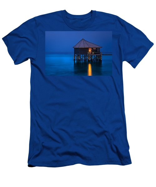 Water Villa In The Maldives Men's T-Shirt (Athletic Fit)
