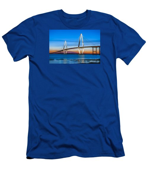 Charleston Arthur Ravenel Bridge Men's T-Shirt (Athletic Fit)
