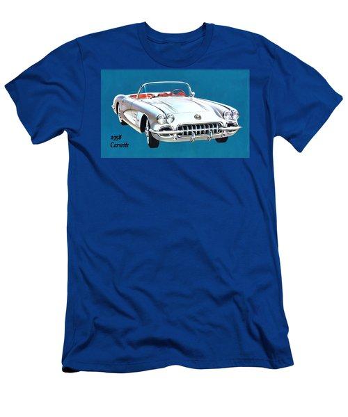 1958 Corvette Men's T-Shirt (Athletic Fit)