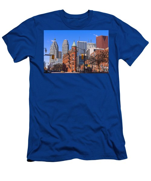 Flatiron Building In Toronto Men's T-Shirt (Athletic Fit)