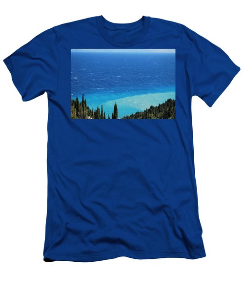 green and blue Erikousa Men's T-Shirt (Athletic Fit)