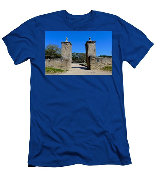 Old City Gates Of St. Augustine Men's T-Shirt (Athletic Fit)