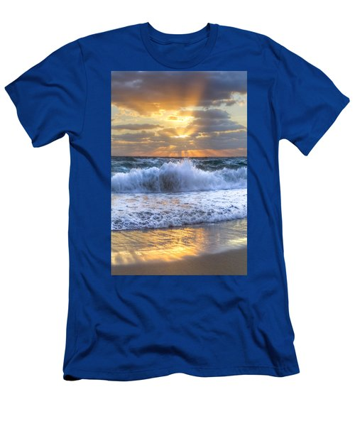 Men's T-Shirt (Athletic Fit) featuring the photograph Splash Sunrise by Debra and Dave Vanderlaan