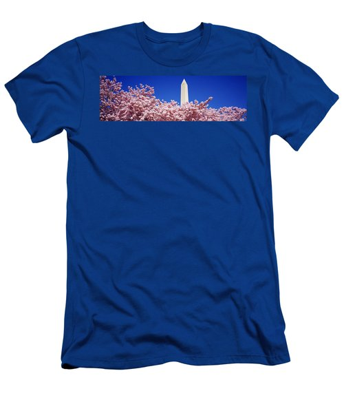 Washington Monument Washington Dc Men's T-Shirt (Slim Fit) by Panoramic Images