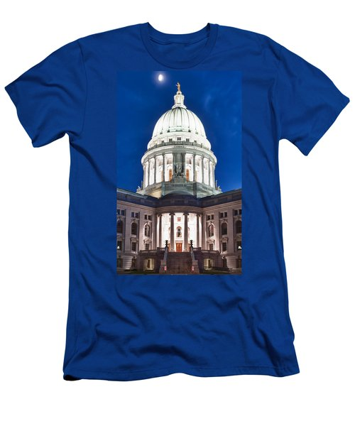 Wisconsin State Capitol Building At Night Men's T-Shirt (Athletic Fit)