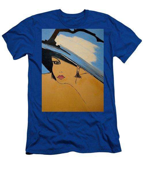 Big Blue Hat Men's T-Shirt (Athletic Fit)