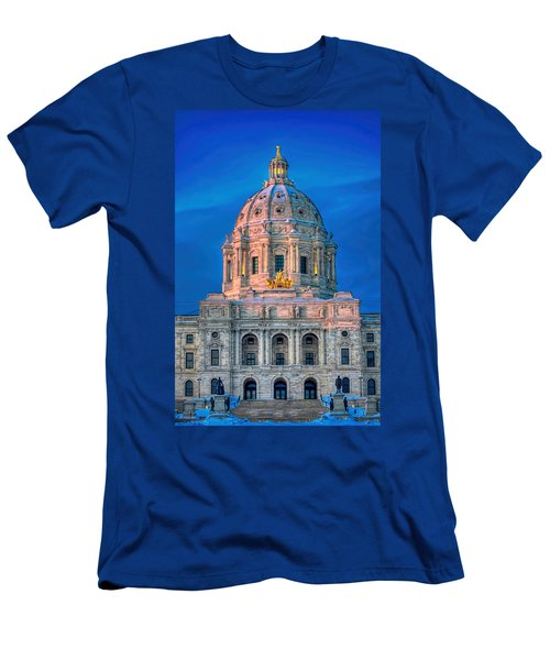 Minnesota State Capitol St Paul Men's T-Shirt (Slim Fit) by Amanda Stadther
