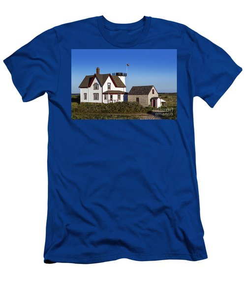 Stage Harbor Lighthouse Men's T-Shirt (Athletic Fit)