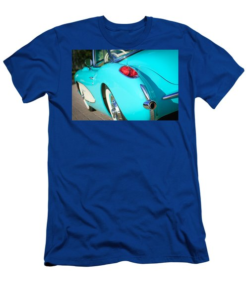 Men's T-Shirt (Athletic Fit) featuring the photograph 1957 Chevrolet Corvette Taillight by Jill Reger