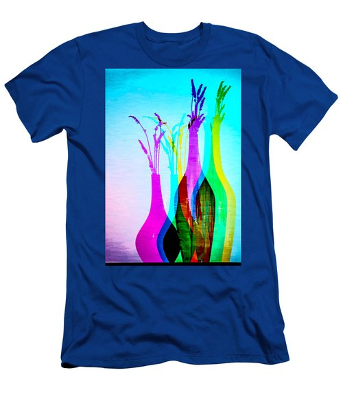 4 Vases In Colored Light Silhouettes Men's T-Shirt (Athletic Fit)