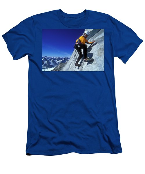 A Man Leads A Climb In The Coastal Men's T-Shirt (Athletic Fit)