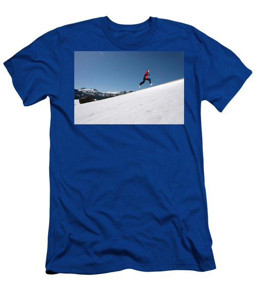 A Man Runs Alone On A Late Winter Day Men's T-Shirt (Athletic Fit)