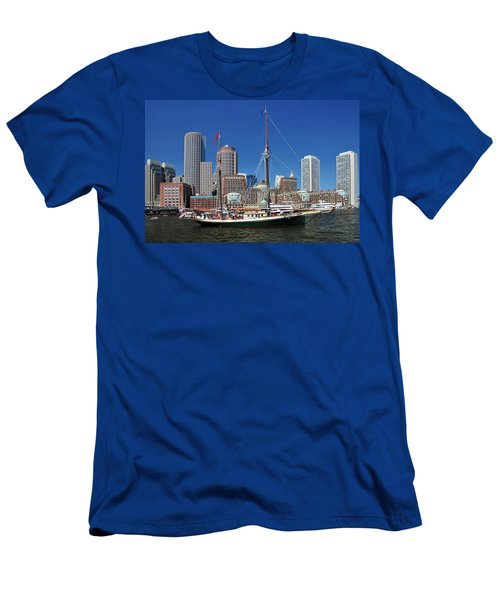 A Ship In Boston Harbor Men's T-Shirt (Athletic Fit)