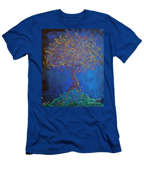 A Tree Of Orbs Glows Men's T-Shirt (Athletic Fit)