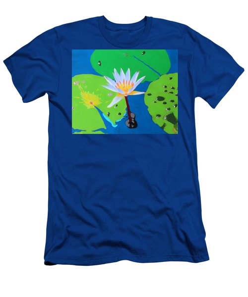 A Water Lily In Its Pad Men's T-Shirt (Athletic Fit)