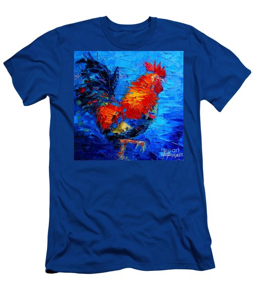 Abstract Colorful Gallic Rooster Men's T-Shirt (Athletic Fit)
