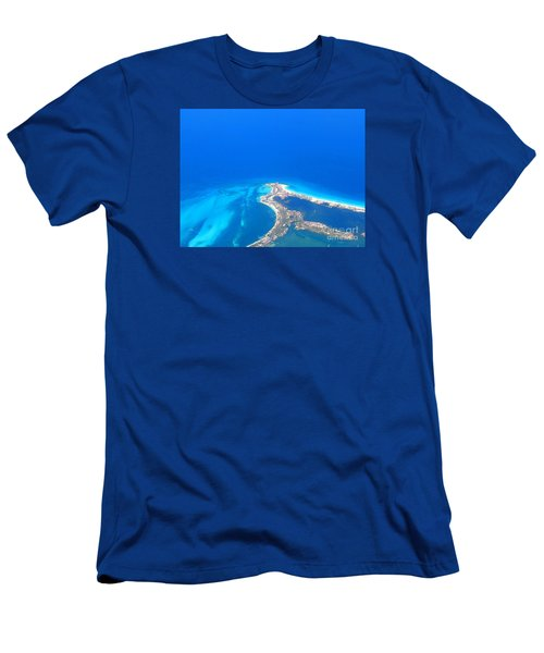 Aerial View Of Cancun Men's T-Shirt (Slim Fit) by Patti Whitten